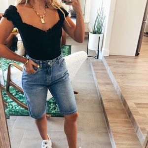 reformation jeans Tops - Reformation jeans black body suit